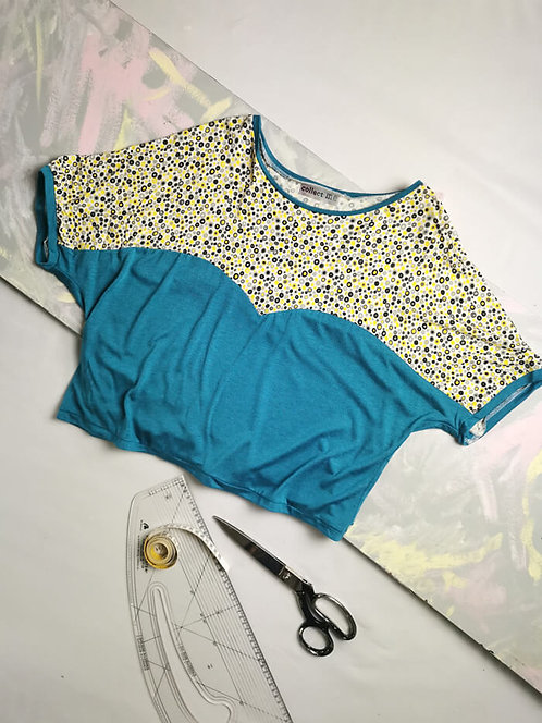 Turquoise Spots Heart T-Shirt - Size M