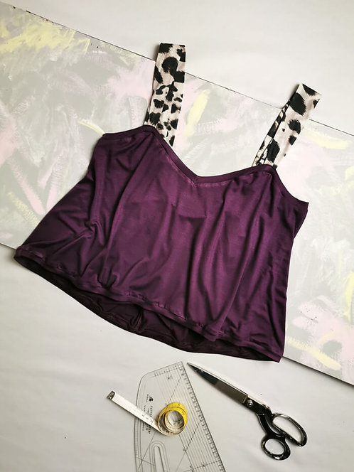 Deep Purple Gathered Camisole - Size S