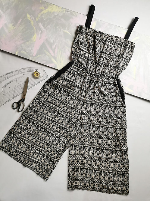 Monochrome Culotte Jumpsuit - Size M
