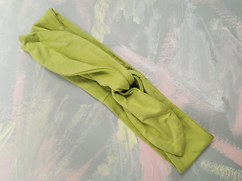Knotted Headband - Chartreuse Yellow