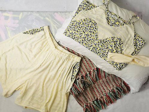 Yellow Spots Pyjama Set - Size M