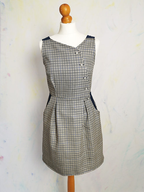 Checked Pinafore Dress -Size 10