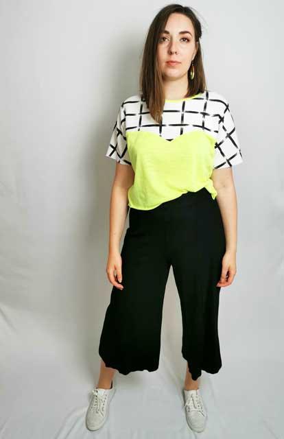 Neon Yellow Heart T-Shirt - Size M
