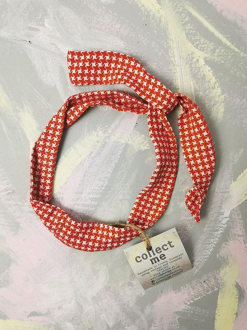 Twisty Wire Headband - Red Dogtooth