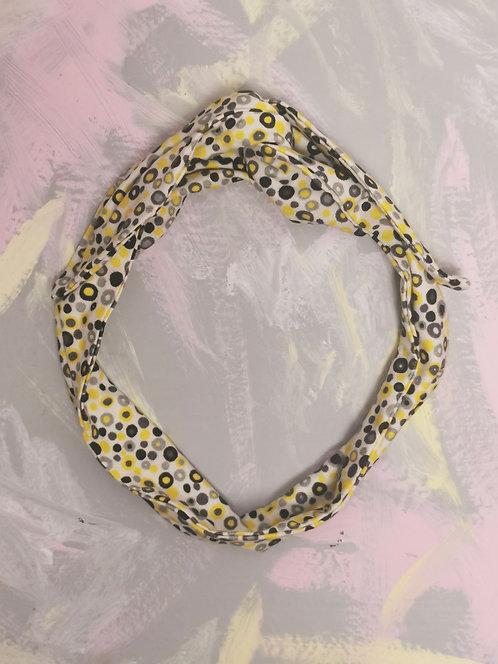Knotted Headband - Yellow Spots