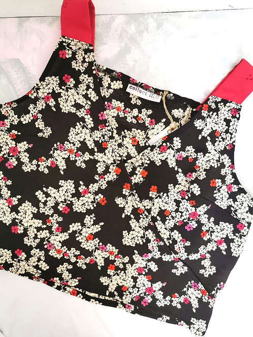 Brown Floral Daydreamer Top - Size M