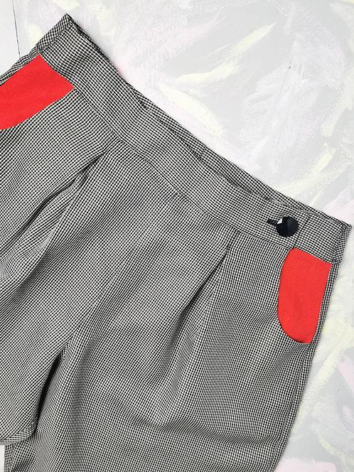 Tiny Dogtooth Peg Leg Trousers - Size 18
