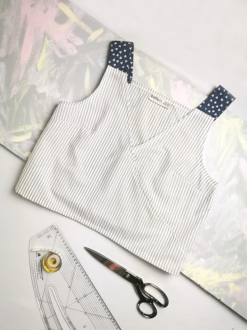 Grey Stripe Daydreamer Top - Size M