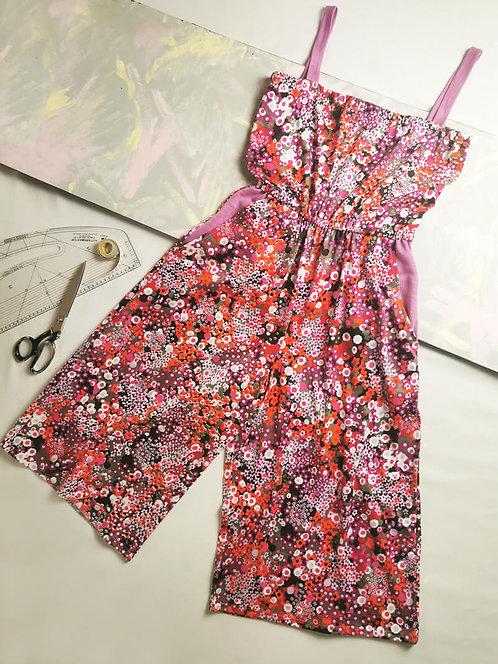 Bright Flowers Culotte Jumpsuit - Size S