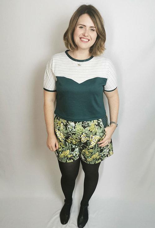 Green Iris's High Waisted Shorts - Size 16