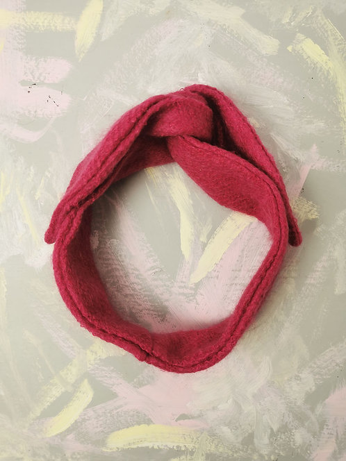 Cosy Knotted Headband - Hot Pink