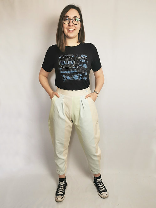 Pastel Stripes Peg Leg Trousers - Size 14