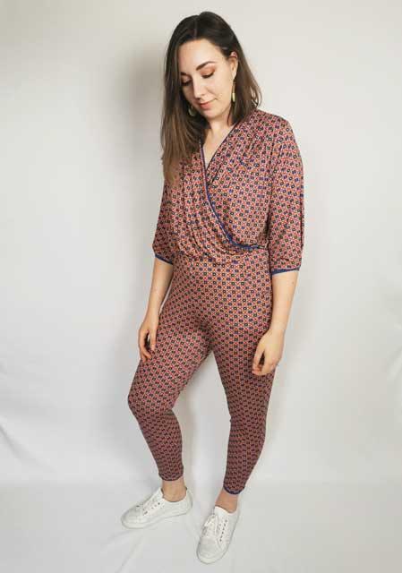 Peach Kaleidescope Dream Jumpsuit - Size M