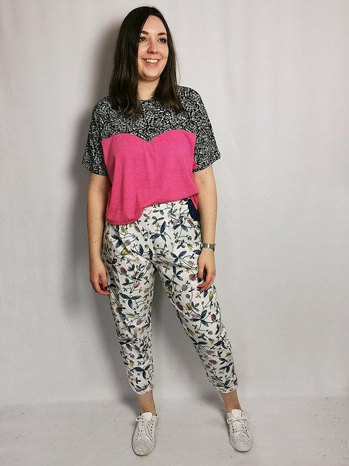 Hot Pink Heart T-Shirt - Size L