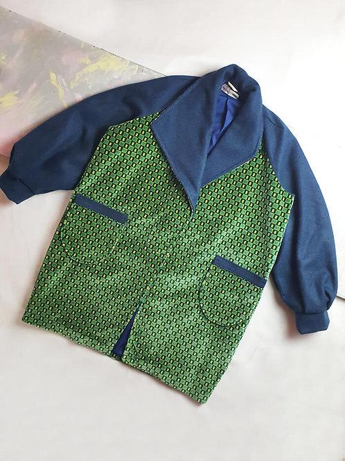 Green Velvet Coat - Size M/L