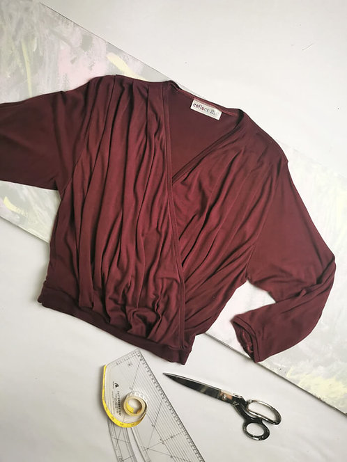 Maroon Dream Wrap Top - Size L