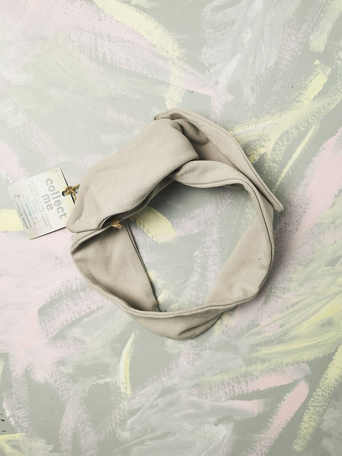 Knotted Headband - Pale Grey