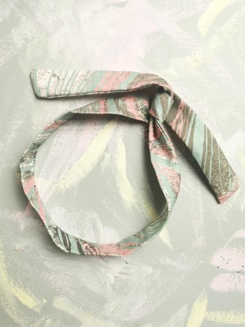 Twisty Wire Headband - Pastel Brushstrokes