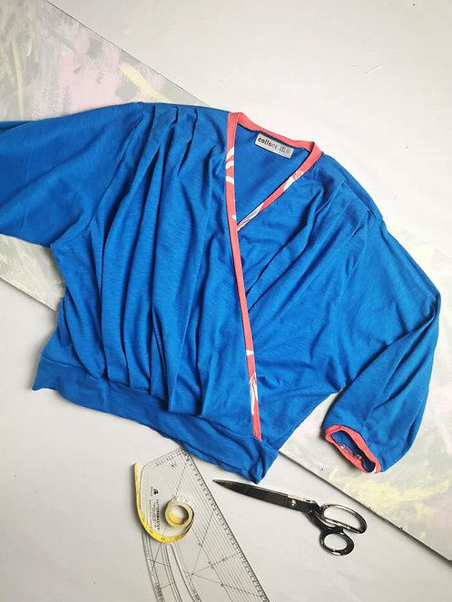 Cobalt Blue Dream Wrap Top - Size XL