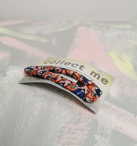 Hair Clip - Coral and Blue