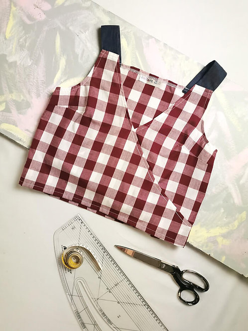 Gingham Daydreamer Top - Size S