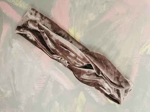 Knotted Headband - Dusky Pink Velvet