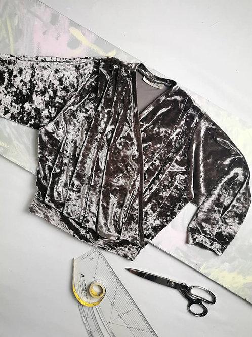 Latte Velvet Dream Wrap Top - Size S