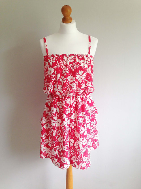 Bright Coral Summer Playsuit