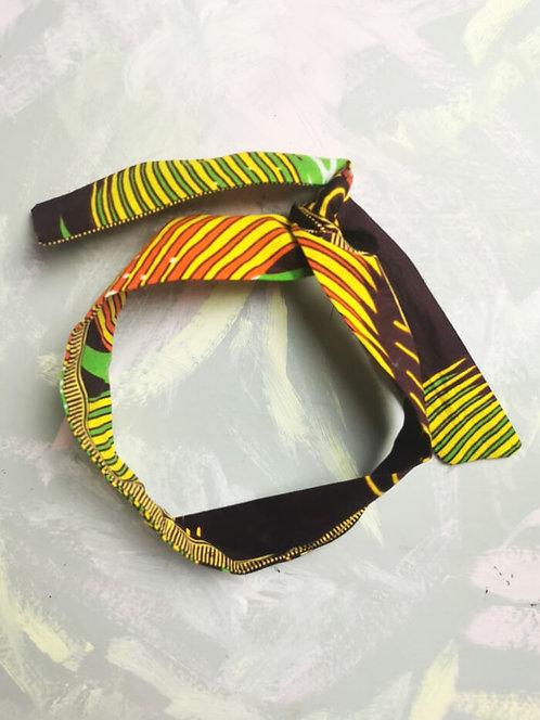 Twisty Wire Headband - African Wax Print