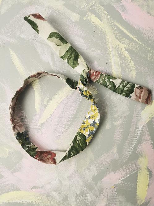Twisty Wire Headband - Pastel Flowers