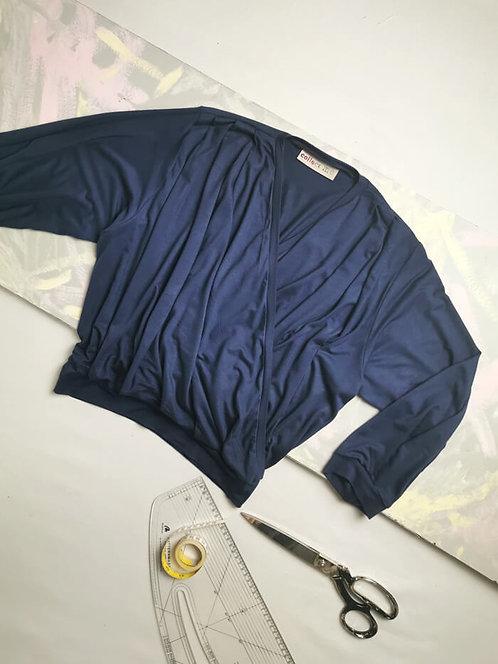 Navy Dream Wrap Top - Size S