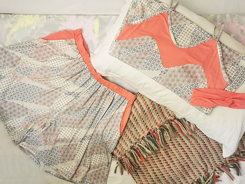 Coral Pink Pyjama Set - Size L