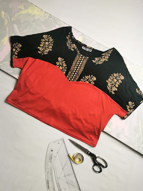 Red Shimmer Heart T-Shirt - Size L