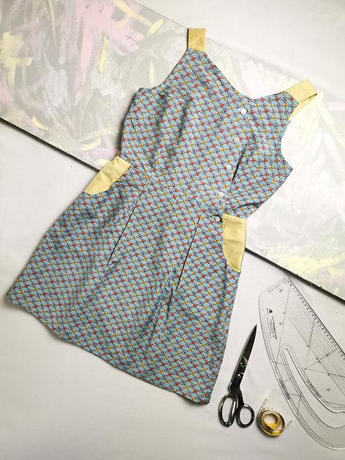 Baby Blue Pinafore Dress -Size 10