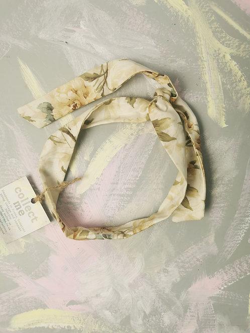 Twisty Wire Headband - Neutral Flowers