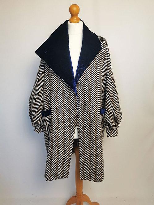 Chevron Cocoon Coat - Size S/M