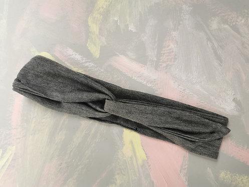 Knotted Headband - Grey