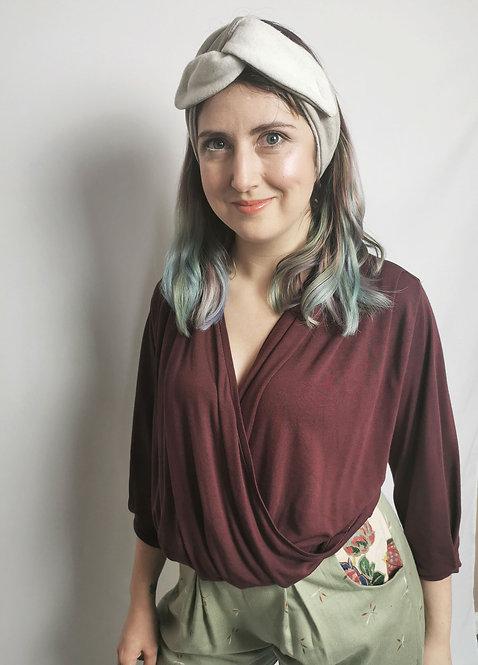 Cosy Organic Cotton Fleece Headband - Stone