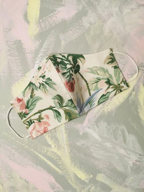 Pretty Floral Polka Face Mask