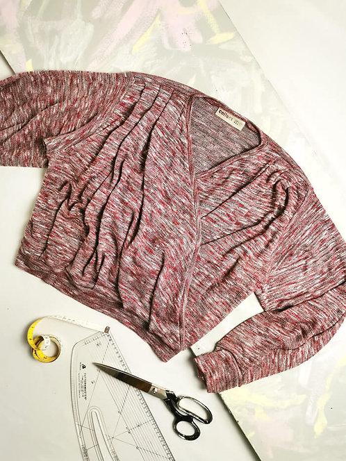 Burgundy Knit Dream Wrap Top - Size S