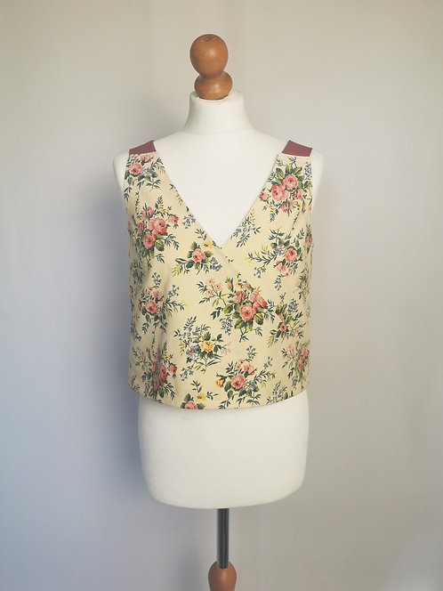 French Floral Daydreamer Top - Size S