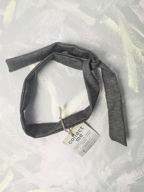Twisty Wire Headband - Grey Suiting