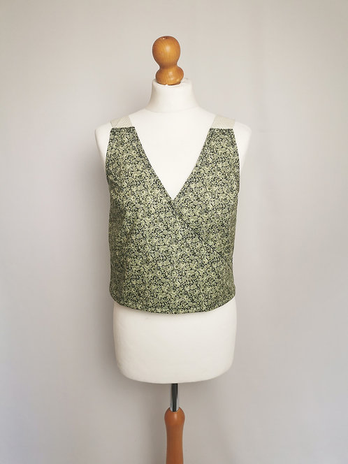 Green Floral Daydreamer Top - Size S