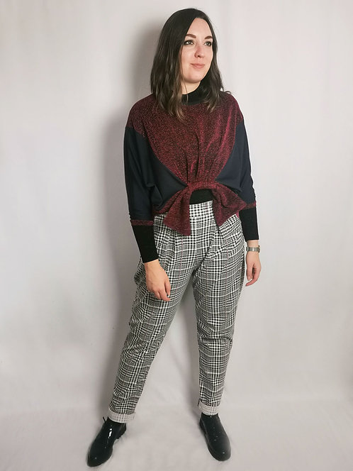 Red Sparkle Loophole Jumper - Size S/M