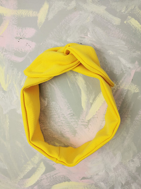 Cosy Knotted Headband - Bright Yellow