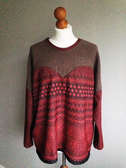 Heart Sweater // Red Folk