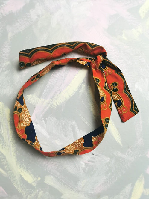 Twisty Wire Headband - Blue and Orange