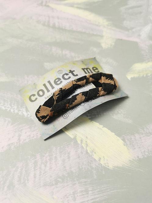 Hair Clip - Brown Leopard Print
