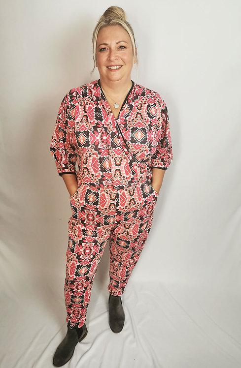 Pink Geometric Dream Jumpsuit - Size XL