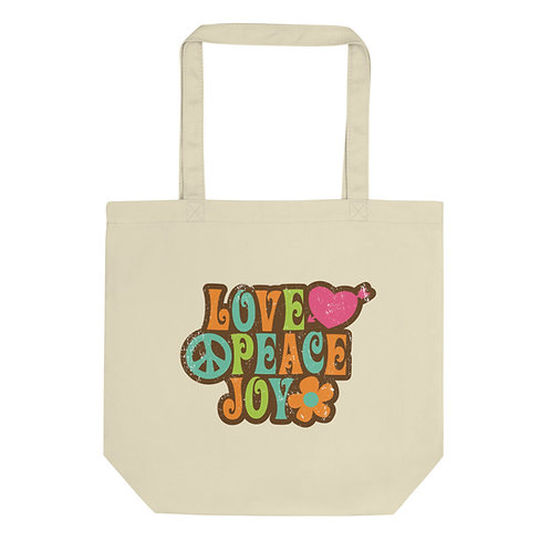 Love Peace Joy - Eco Tote Bag